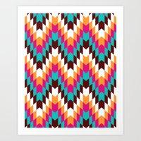 Tribal Chevron II Art Print