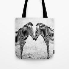 Two Zebras Tote Bag