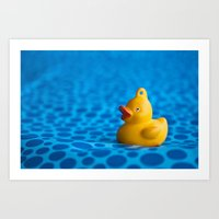 Small Plastic Duck On A … Art Print
