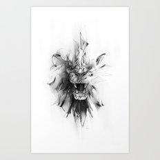 STONE LION Art Print