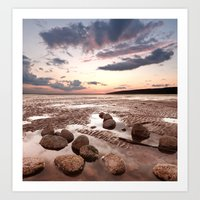 Low Tide Sunset Art Print