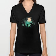 Unisex V-Neck featuring The Conversationalist by Budi Kwan
