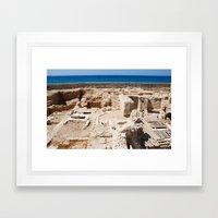 Ruins by the Mediterranean  Framed Art Print