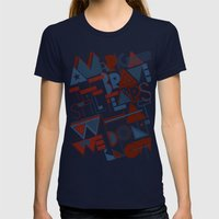 America the Brave Womens Fitted Tee Navy SMALL