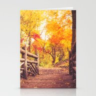 Stationery Cards featuring New York City Autumn In … by Vivienne Gucwa