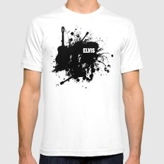 ELVIS Mens Fitted Tee White SMALL