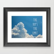 The Sky's The Limit Framed Art Print