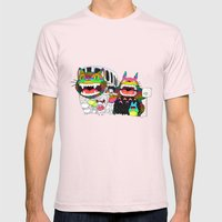 Totoro fan art (cat bus) by Luna Portnoi Mens Fitted Tee Light Pink SMALL