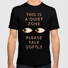 Quiet Zone SMALL Black Mens Fitted Tee