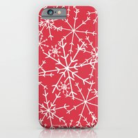 iPhone & iPod Case featuring Snowflakes by the green gables