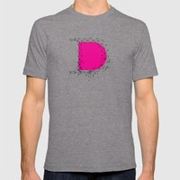 D (abstract geometrical type) Mens Fitted Tee Tri-Grey SMALL