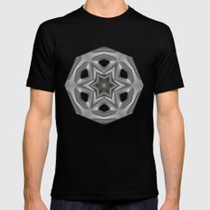 Abstract kaleidoscope of a wheel cover Mens Fitted Tee SMALL Black