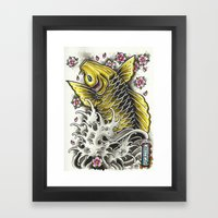 Upstream Framed Art Print