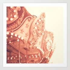 Pink Carousel Art Print