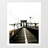brooklyn bridge. Art Print