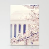 Cherry Blossoms at the Jefferson Memorial Washington DC Stationery Cards