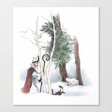 St Nicholas and the Pine Marten Canvas Print