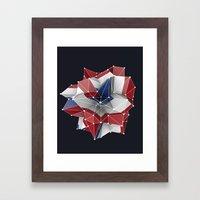 Abstract circular dutch flag in c4d Framed Art Print