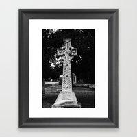 Celtic Cross B&W Framed Art Print