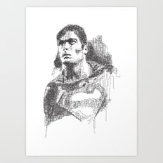 Christopher Reeve Portrait Art Print