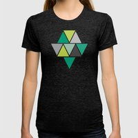 Triangulum - Emerald Womens Fitted Tee Tri-Black SMALL
