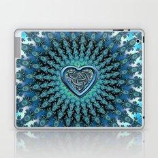 Celtic Heart Knot Fractal Mandala Laptop & iPad Skin