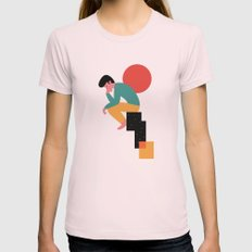 Think Womens Fitted Tee Light Pink SMALL