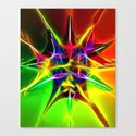 Spiked Star Canvas Print