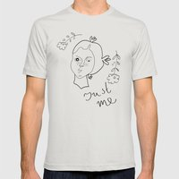 Just Me Mens Fitted Tee Silver SMALL