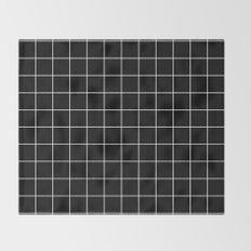 Black White Grid Throw Blanket