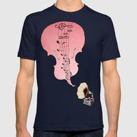 musical moment II  Mens Fitted Tee Navy SMALL