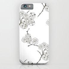 Japanese Trees ( Japan, Asia, Black-White, Delicate, Elegant print ) iPhone 6s Slim Case