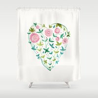 garden heart Shower Curtain