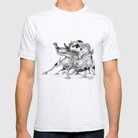 Mc Blob a ma Puss Mens Fitted Tee Ash Grey SMALL