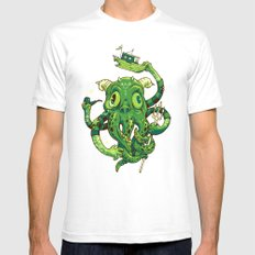 Sir Charles Cthulhu Mens Fitted Tee SMALL White