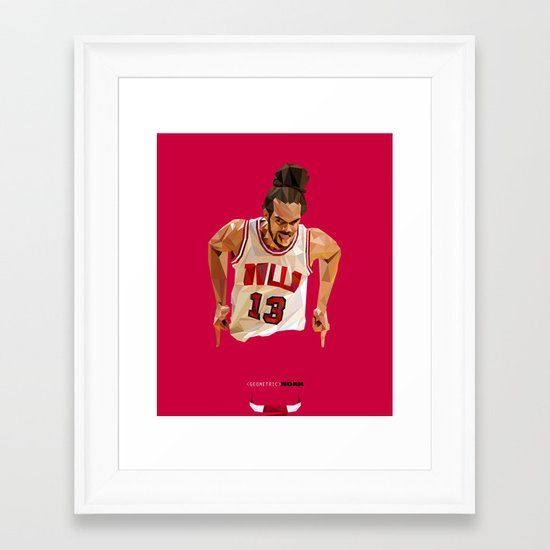 Geometric Noah Framed Art Print