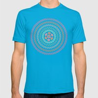 Retro floral circle 2 Mens Fitted Tee Teal SMALL