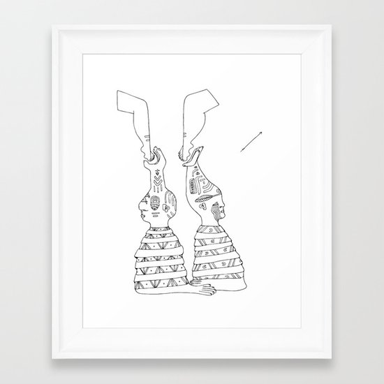 natives Framed Art Print