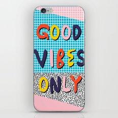 Check it - good vibes happy smiles fun modern memphis throwback art 1980's 80's 80s 1980s 1980 neon  iPhone & iPod Skin