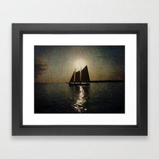 Sailing at twilight Framed Art Print