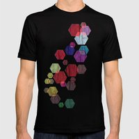C13 Construct Hex V2 Mens Fitted Tee Black SMALL