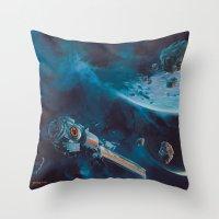 Milking The Stars - Mons… Throw Pillow
