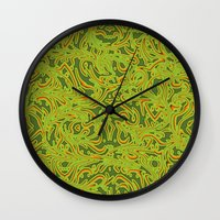 Sixties Swirl Wall Clock