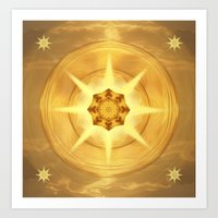 Sky Fire Mandala Art Print