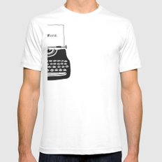 Hello World. Mens Fitted Tee SMALL White