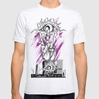 Eye of the City Mens Fitted Tee Ash Grey SMALL
