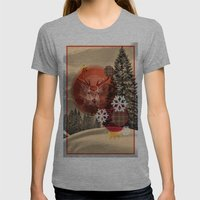 Christmas Scene. Womens Fitted Tee Athletic Grey SMALL