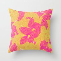 Geo Floral Throw Pillow