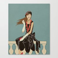 Oh to be French in the 30's Canvas Print