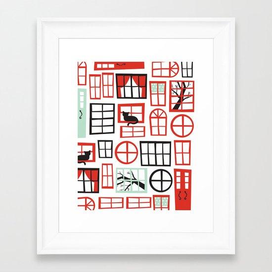 Doors and Windows Framed Art Print